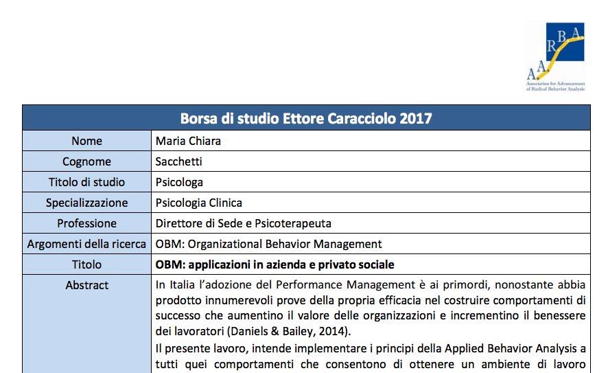 Borsa di Studio Ettore Caracciolo